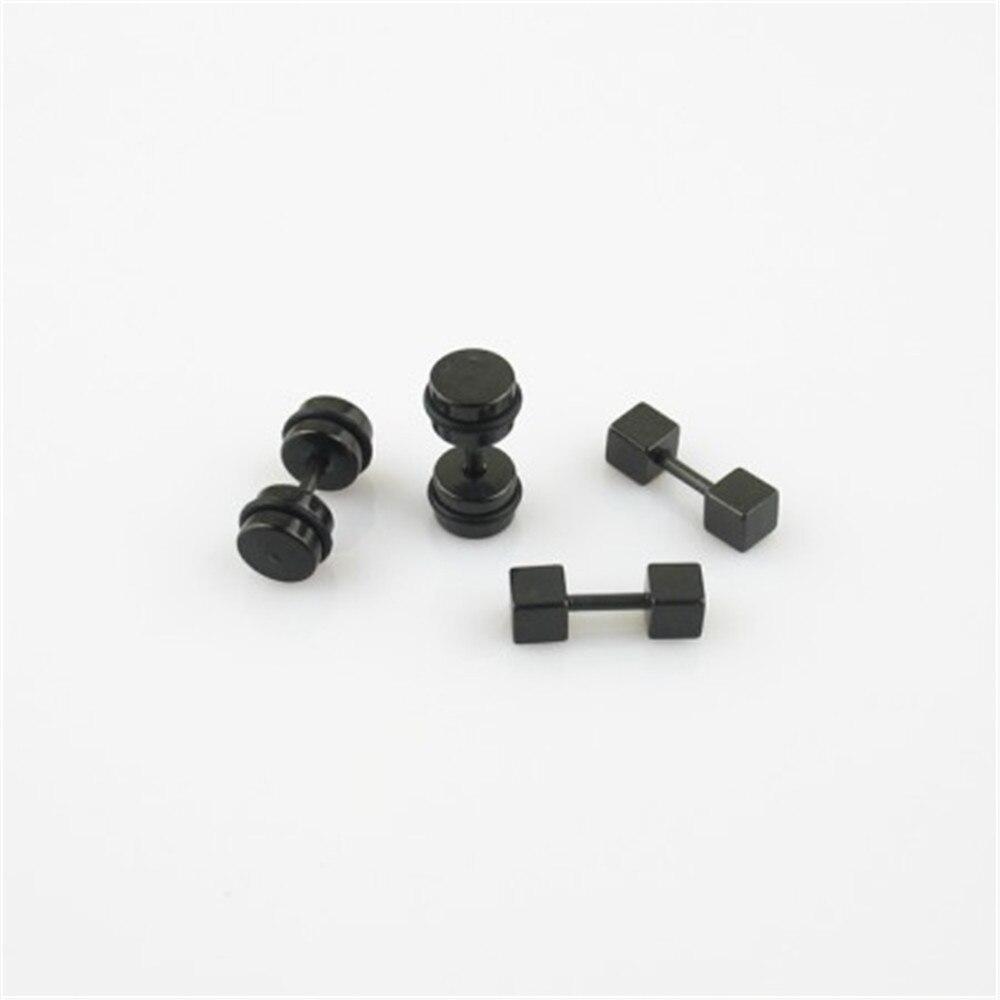 Wholesale k-pop TVXQ HERO Titanium steel black apron ear bone Men Or Women Stud Earrings FR211 FR212