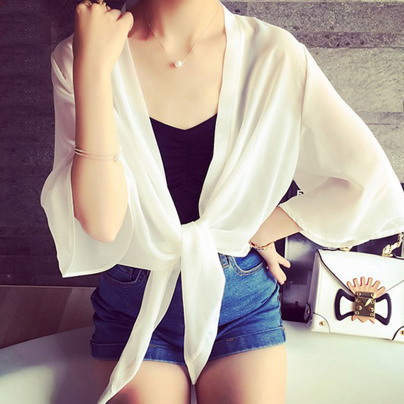 Brave Pulabo 2018 New Sexy Women Beachwear Chiffon Cardigan Bikini Swimwear Cover Up Shirt Outwear
