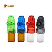 HONEYPUFF, 1 шт., стеклянная бутылка, 53 мм/67 мм/82 мм, Диспенсер, пуля, ракета, храп, храп, Snorter, Sniffer, цвет в случайном порядке