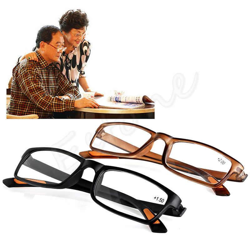 1 قطعة جديد الراتنج مؤطرة النظارات نظارات للقراءة + 1.0 1.5 2.0 2.5 3.0 3.5 4.0 الديوبتر عيد الميلاد هدايا # J