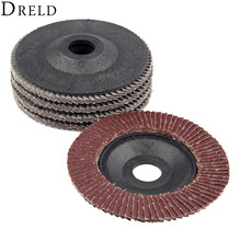 DRELD 5Pcs 5 Inch 125mm Flap Sanding Discs Angle Grinder Wheels Polishing Grinding Wheel Grit 60 for Dremel Rotary Tool