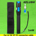 KELUSHI 1mW 1~5km Plastic Fiber Optic Visual Fault Locator Red Laser Light Souce Cable Tester 2.5mm LC/FC/SC/ST Adapter for CATV