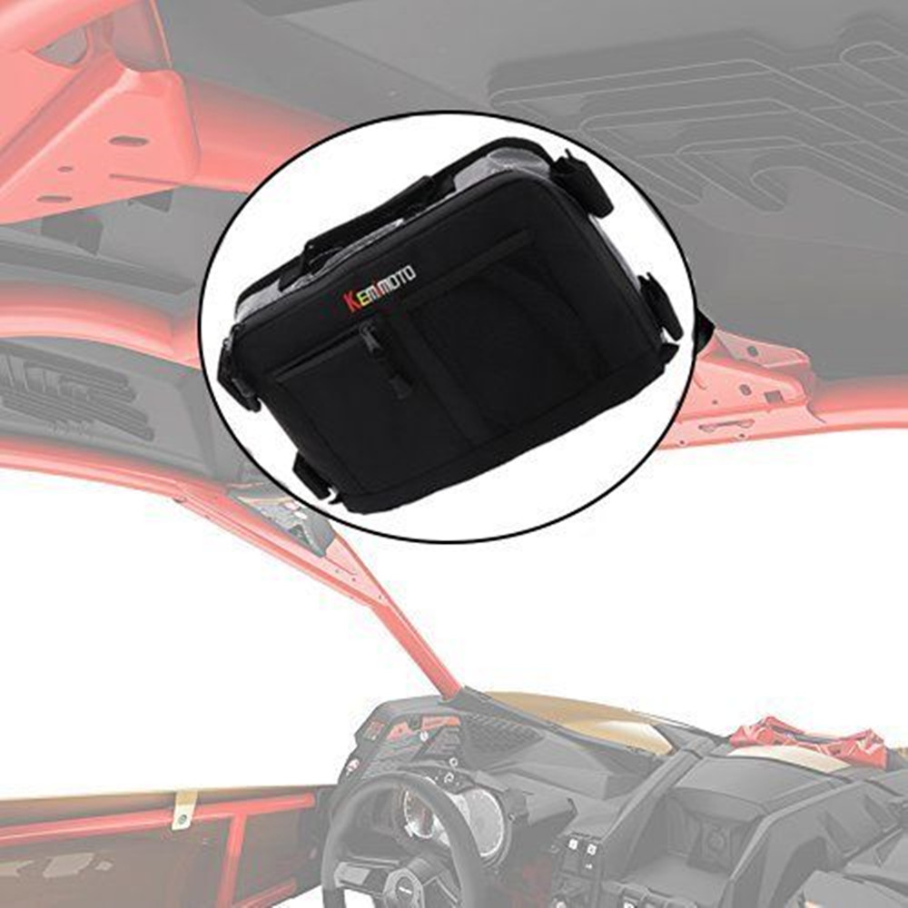 KEMiMOTO Overhead Storage Bag For Can Am Maverick X3 UTV Bag Over head Roof tent Bag