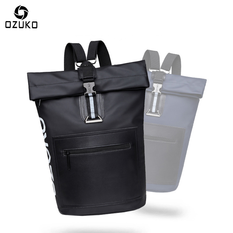 OZUKO Men's Backpacks School Backpack Bag Multifunction for teenagers Men Women Casual Travel Shoulder Bags Fashion Male Mochila ozuko brand men travel backpack 2018 new style casual school bag for teenagers 14 15 inch laptop masculina shoulder bags mochila