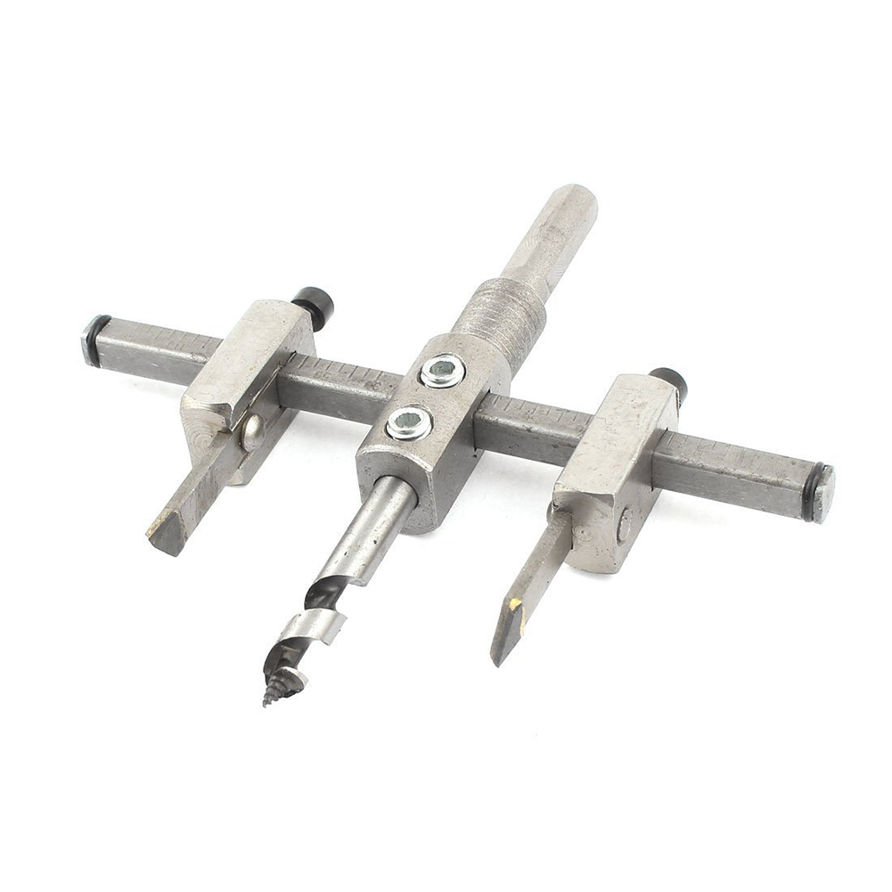 цена на Handy Adjustable Metal 30mm-120mm Circle Hole Saw Drill Bit Cutter Kit