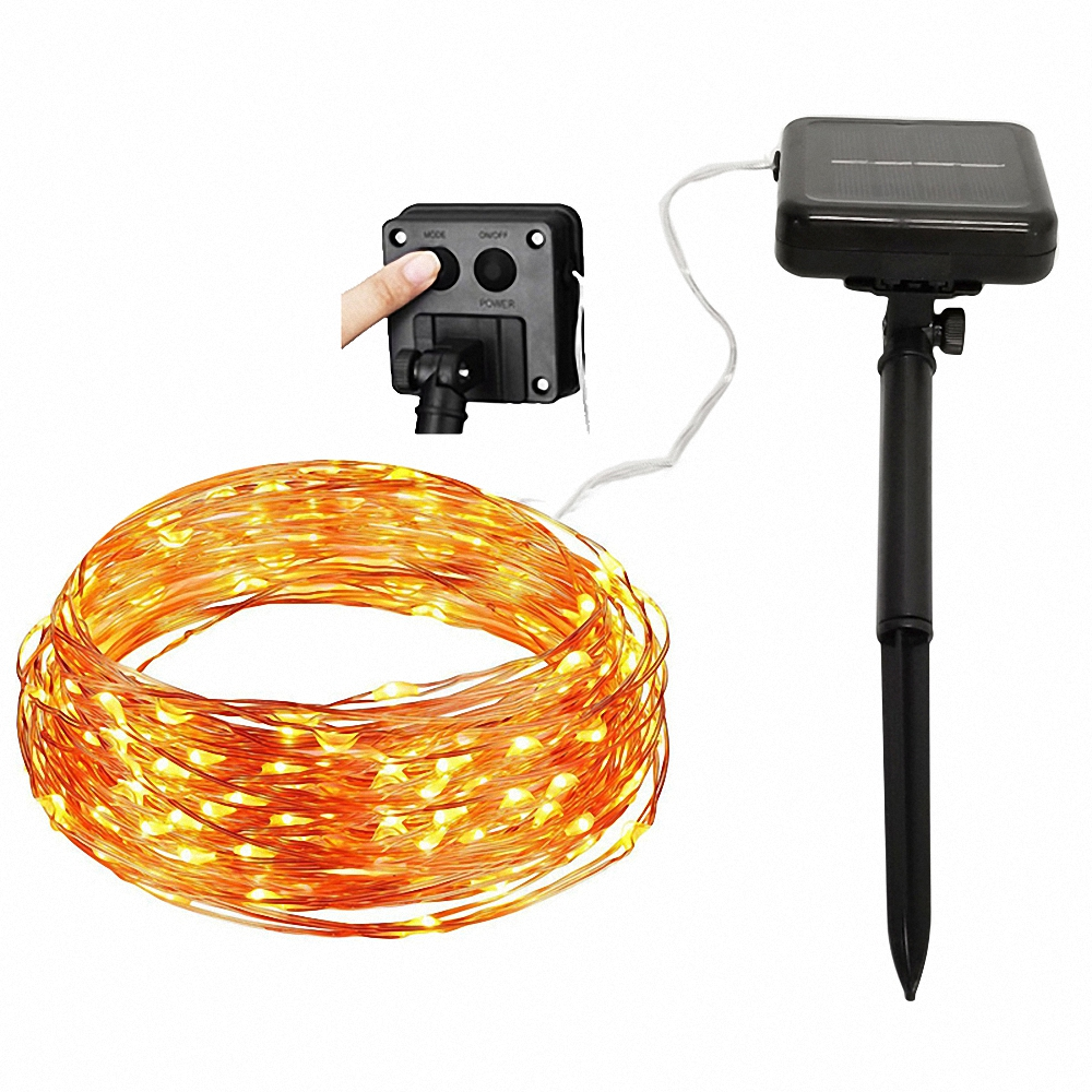 8 Mode 22M 200 LED Solar Strip Light Home Garden Copper Wire Solar Lamps Fairy Garlands Outdoor Christmas Party Decor String