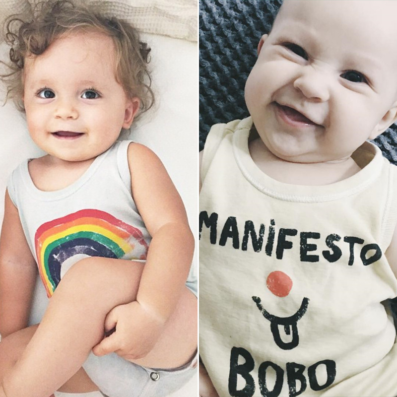 Lato Baby Tank Top Bunny Koszulki bez rękawów Lato Newborn Kids T - Odzież dla niemowląt - Zdjęcie 2