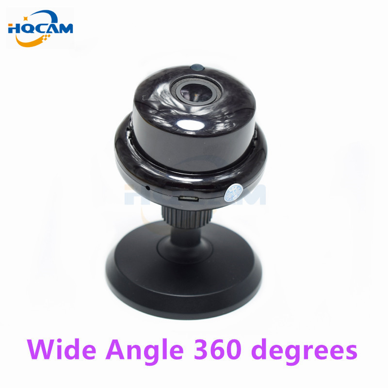 HQCAM 960P Wide-angle panoramic Mini Wireless Camera Wifi Two-way voice Indoor IR-CUT Night Vision Home Security IP Camera Wi-fi vr360 panoramic camera wi fi remote control sports action camera