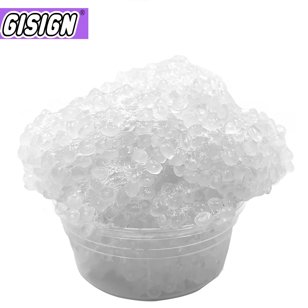 50g Crystal Slime Rice Mud Glue Foam Clear Bead Cloud Fluffy Slime AntiStress Toy Soft Plasticine Modeling Clay Putty For Kids