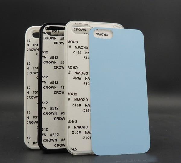 10pcs/lot White Black Transparent Blank 2D Sublimation soft rubber TPU PC Groove Case for iphone 5/5S/SE Aluminum Inserts glue