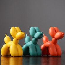 Balões decorativos criativos nórdicos, balões de resina para decoração de cães e escritórios, sala de estar, quarto ou tv