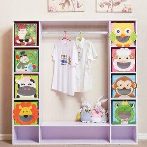Image 3 - New 3D Cartoon Non Woven kid Toys Storage bins Animal Embroidery Foldable Clothes Storage Box for Underwear organizer Rangement