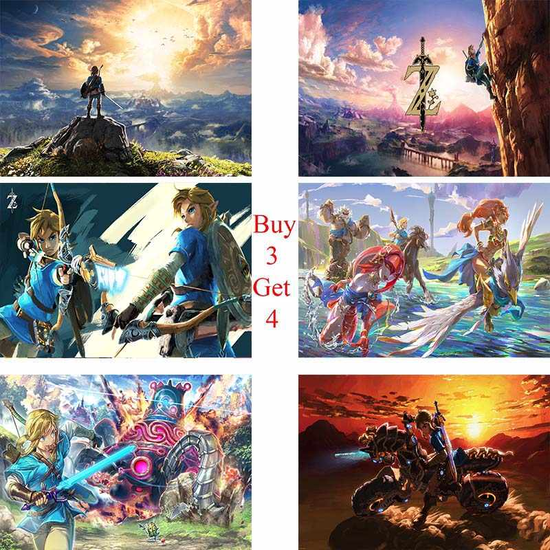 The Legend of Zelda papelão Branco Cópia do Cartaz da parede Pintura Retrato para a Decoração Da Parede pinturas Decorativas para as casas das crianças