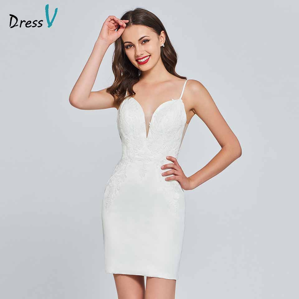 Dressv Cocktail Dress Elegant Spaghetti Straps Mermaid Appliques Backless Sleeveless Wedding Party Formal Dress Cocktail Dresses