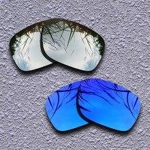 Серебристые титановые и фиолетовые поляризованные Сменные линзы для солнцезащитных очков