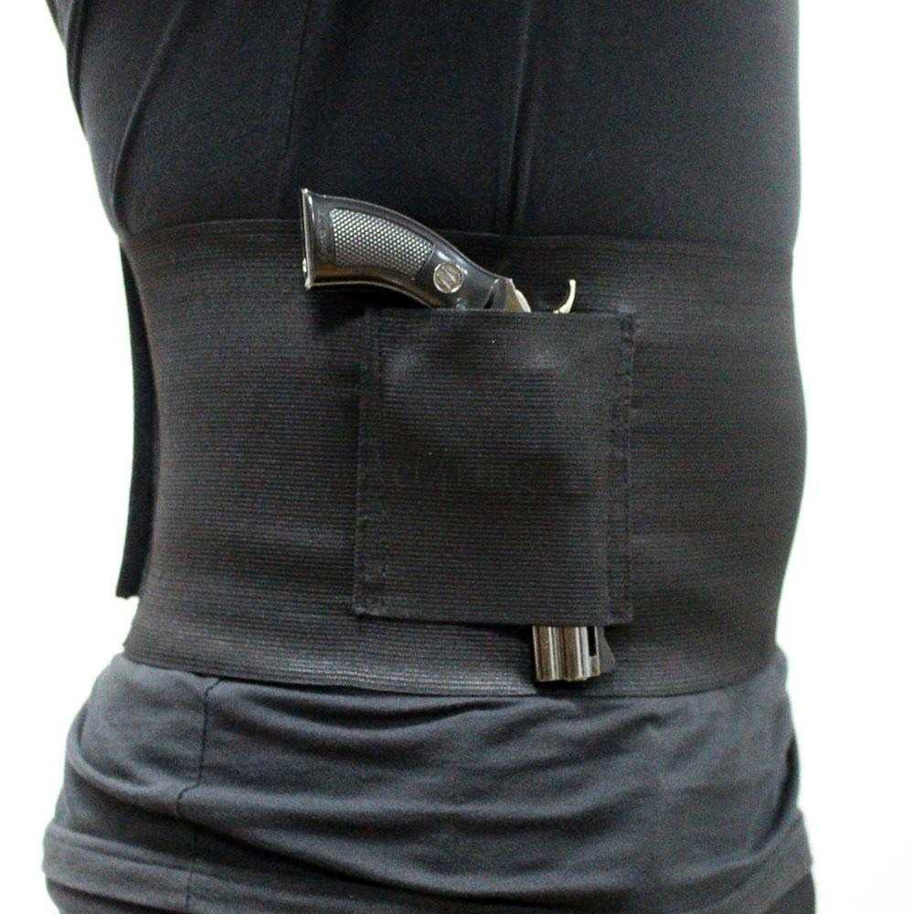 New style Slim Wrap Concealed Carry Belly Band Pistol Holster Abdominal Band Gun Holster free shipping