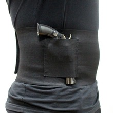 New style!!!Slim Wrap Concealed Carry Belly Band Pistol Holster Abdominal Gun