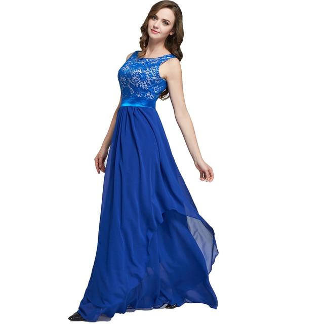 d88c447dfa Jakości długi sukienka w dużym rozmiarze koronkowa szyfonowa niebieski  czerwony Plus rozmiar lato kobiety sukienka moda