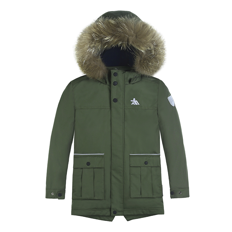 2018 Hot Sale Kids Boys Winter Coat Parka Cotton Padded Coat Jacket Winter Coat For Kids Parka Real Raccoon Fur Boys Winter Coat
