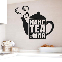 YOYOYU 40 colors Vinyl wall sticker Coffee pot Pattern Removeable Wall Decal Salon Livingroom kitchen Wall Decor ZX226 chic romantic sentence pattern removeable wall sticker