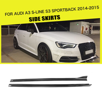 Carbon Fiber / FRP Side Skirts Extension Aprons for Audi A3 S LINE S3 Sportback 4 Door 2014 2015 Car Styling