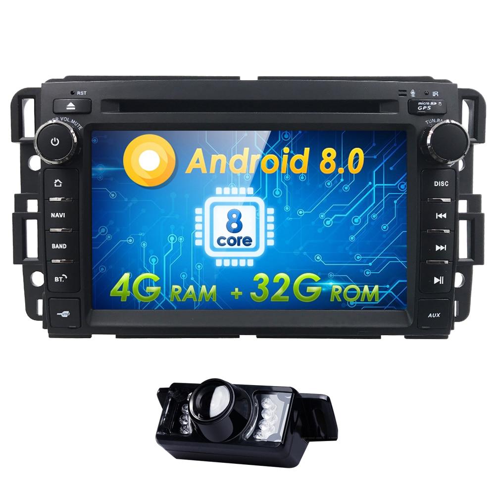 2din GPS Радио Android 8.0 dvd плеер автомобиля для GMC Sierra Yukon Denali Acadia savana Chevrolet Express траверс Equinox CD 4 г + 32 г