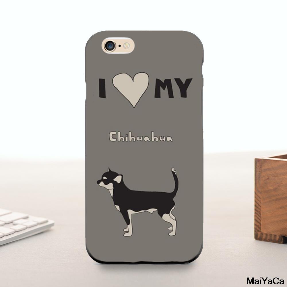 Silicone case i love my chihuahua originales accesorios del teléfono lindo para