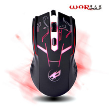 Warwolf Wired Gaming Mouse 4 Buttons Professional PC Laptop Computer Mouse Gamer Mice Backight 1600DPI USB Optical Mouse