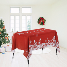 Santa Claus Tablecloth Rectangle Christmas Dinner Tablecloth Polyester  Printed Coffee Table Cover Xmas Christmas Decoartions(