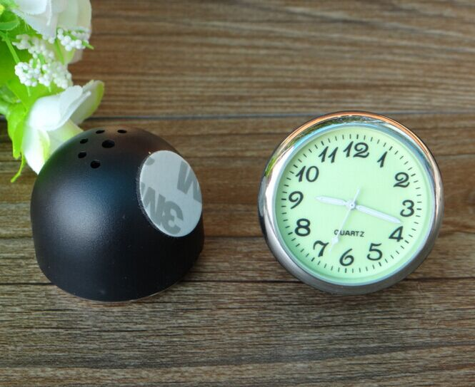 YZ car styling meter noctilucence originality decoration Ornaments best gift 4CM cool quartz watch hygrometer thermometer in Ornaments from Automobiles Motorcycles