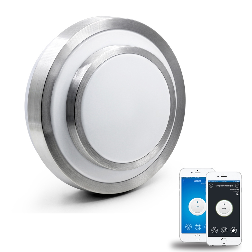 JIAWEN Wifi Phone APP Control LED Ceiling Light Working with Amazon Alexa and Google AC110 -240V