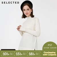 SELECTED New Style Women's Italian Merino wool turtleneck sweater SIG | 418424516