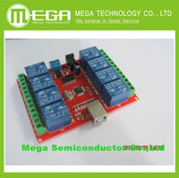Hot ! 8 channel 12V relay module /computer USB control switch / free driver / PC Intelligent Controller