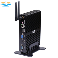 Partaker Fanless Mini PC Quad Core J1900 With 2 COM Ports 3 Years Warranty Free Shipping DHL