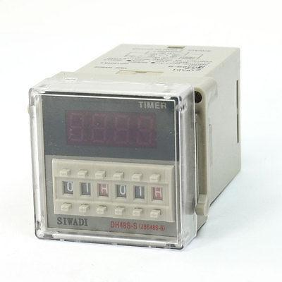 DH48S-S 4 Digits Display DPDT 0.1s-99H99M Count Up Digital Counter Relay AC220V ac380v panel mount 8p 1 999900 count range digital counter relay dh48j dpdt