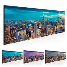 HD Wall Art Print Vintage New Classics 1 Pcs York City Night View Canvas Painting Modular Picture Poster Home Decor No Frame
