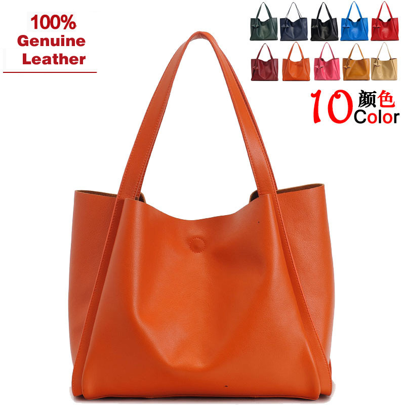 Factory Direct Fashion Genuine Leather Bag Casual Tote Set Big Brand Bolsa shoulder bag women Icon City desiguol DB001 - Luxury Discount store