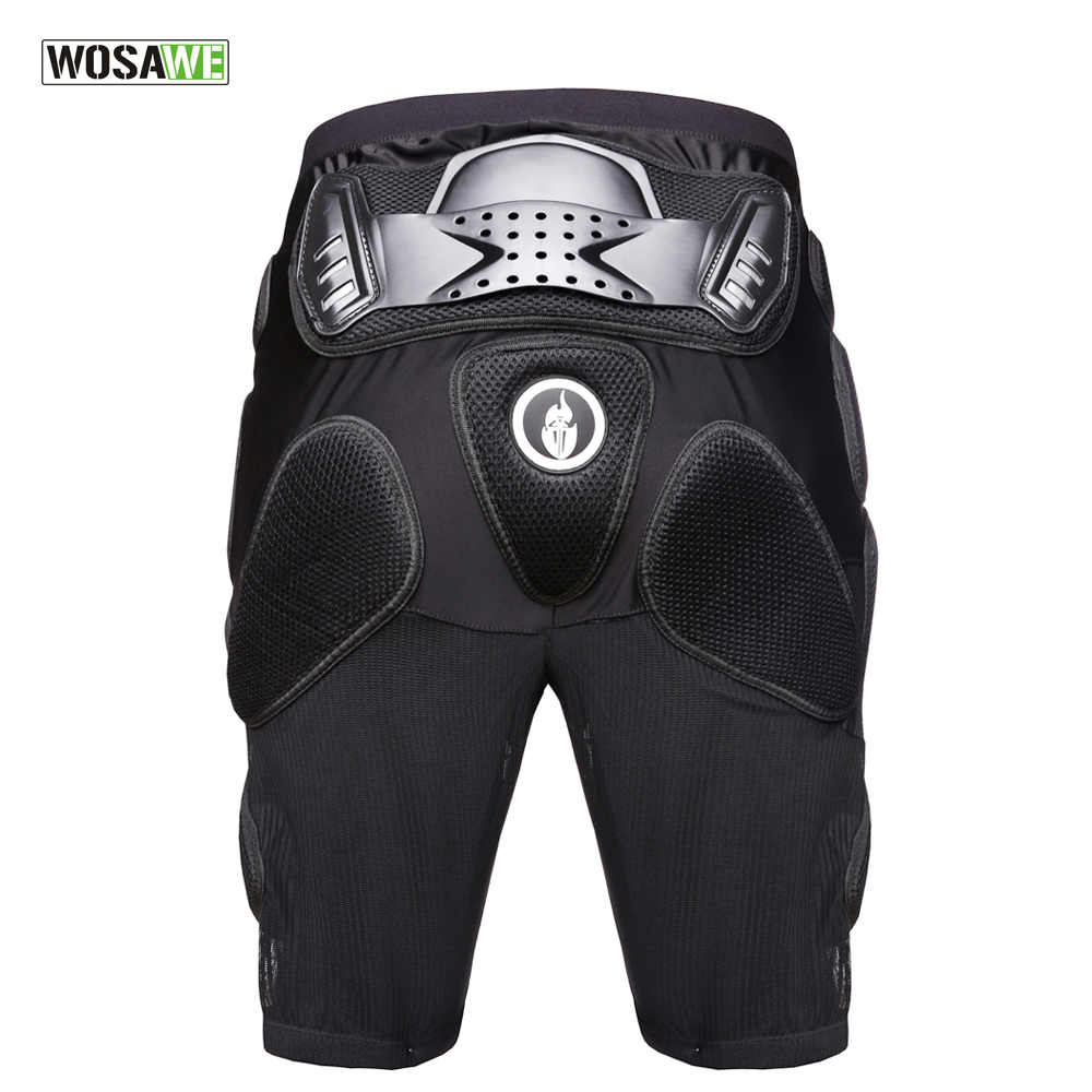 WOSAWE Sports Armor Protective Hip Skateboarding Shorts Motorcycle Skating & Snowboard Extreme Sports Hip Pad Protection 5pcs in 1 outdoor sports protection skiing hip pad knee pads wrist support palm for roller skating snowboard protection black