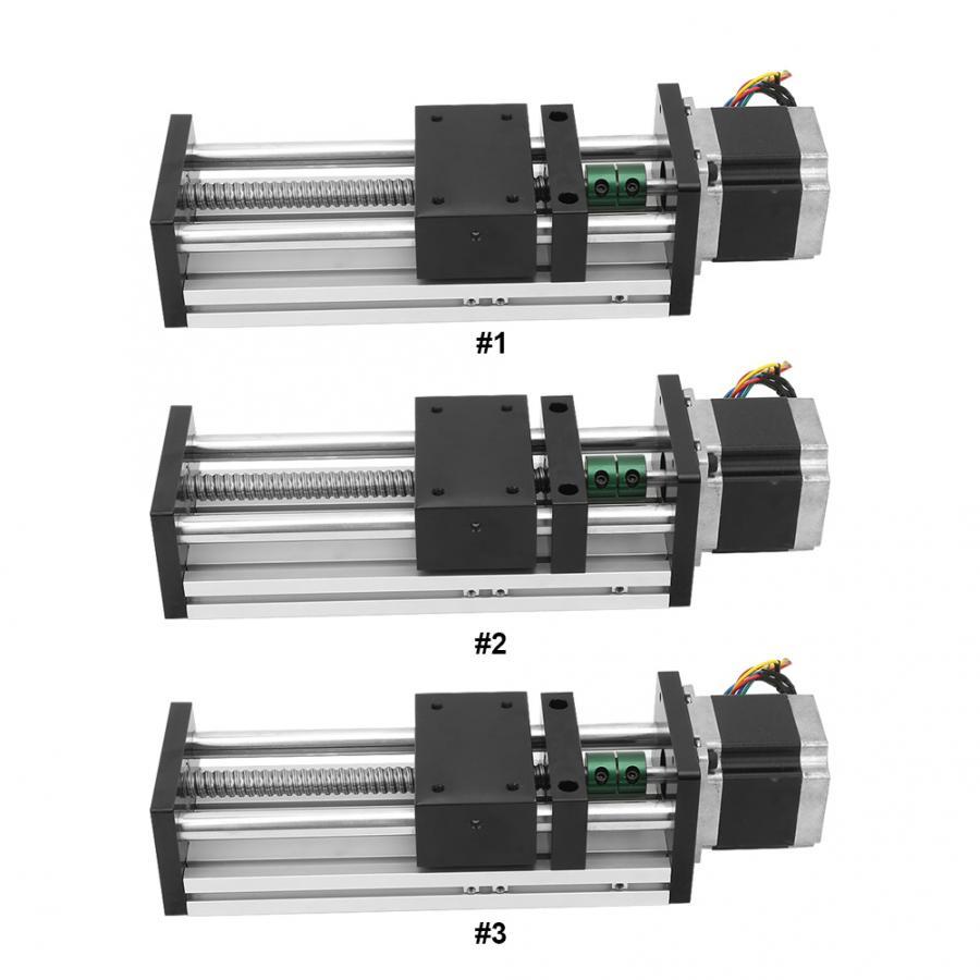 Rail de guidage linéaire à vis à billes à Double arbre en alliage d'aluminium avec moteur 57 pour Rail de guidage industriel d'automatisation