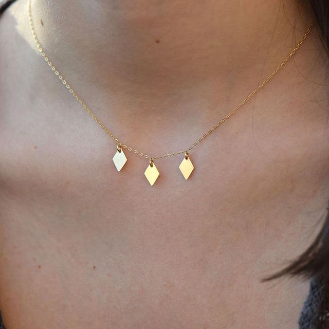 Handmade Shiny geometric Necklace