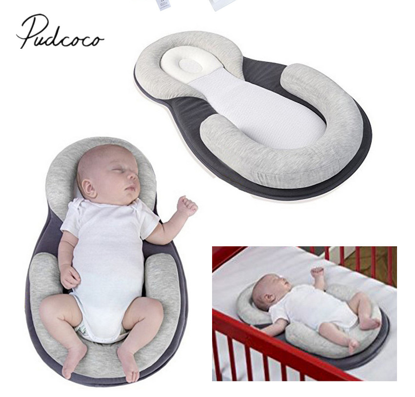 Baby Pillow Sleep Cushion Newborn Cot Crib Portable Nest Bed Mattress