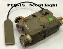Tactical aisoft baterka PEQ 15 Upgrade Verze LED bílé světlo Zelený laser s infračerveným zářením Objektivy pro lov