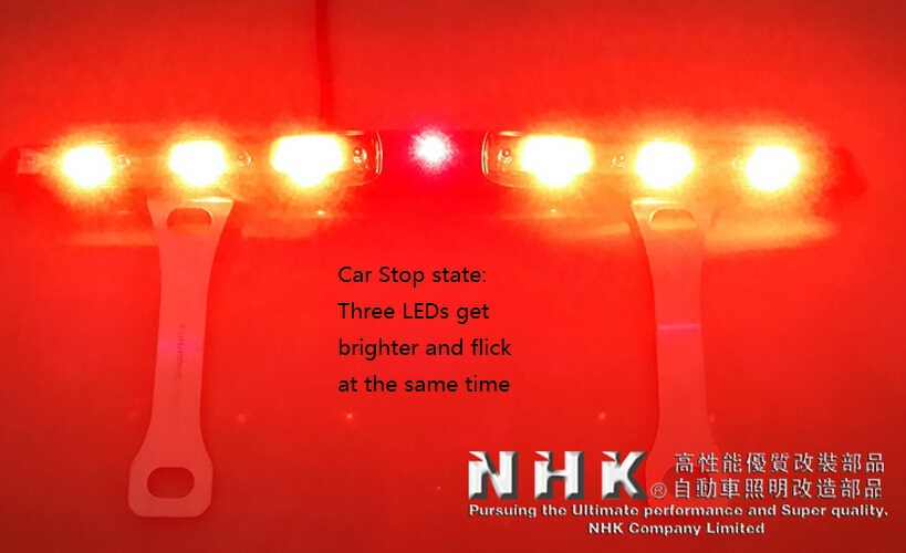 купить car led rear fog lamp with Laser Anti Collision Security system + moving led for run state + flashing high light for stop state недорого