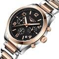 GUANQIN Новый Мужские Часы Лучший Бренд Класса Люкс 30 м Водонепроницаемый Дата часы Мужчины Стали Ремешок Кварцевые Часы Мужчины Наручные Спорт часы