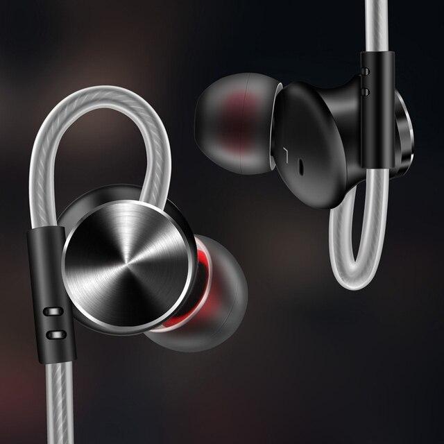 Металлические Магнитные наушники вкладыши FONGE W3, стереонаушники с супер басами и микрофоном для воспроизведения музыки на смартфоне