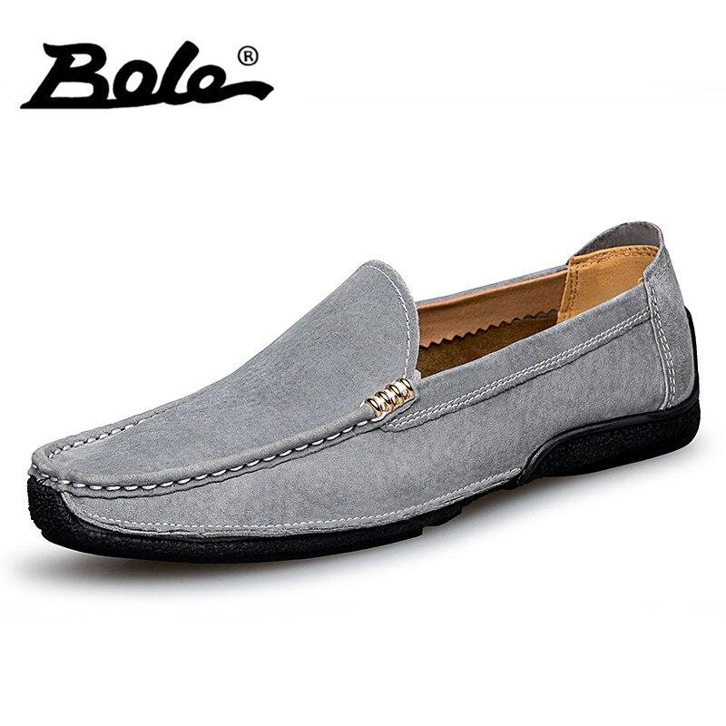 Боле бренд Модные мужские лоферы летние мягкие мокасины Для мужчин повседневная обувь Высокое качество Пояса из натуральной кожи Обувь Для...