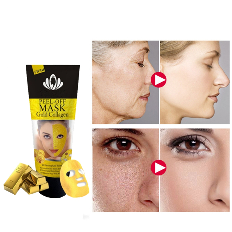 24K Gold Collagen Vitamin B E C Facial Mask for Face Mask Skin Care Moisturizing Brightening Nourishing