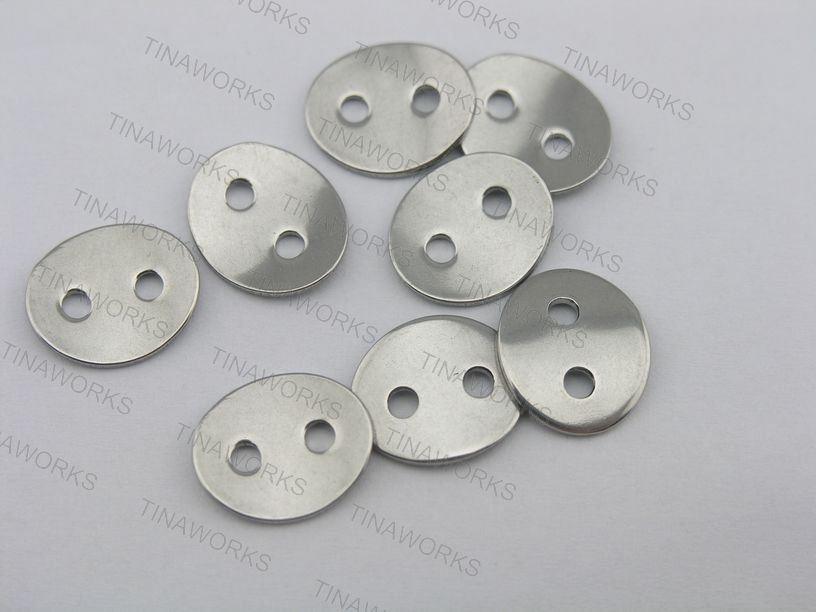 d45c416e2697 50pcs 2.3mm Holes Stainless Steel Button For Wrap Bracelet Fits 1.5mm or  2.0mm Leather--CLP1069