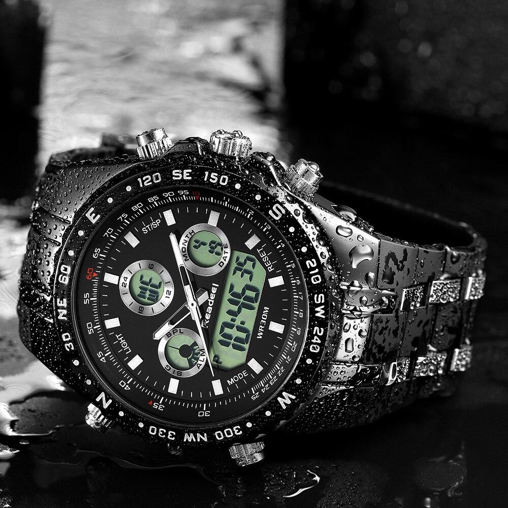 2018 Top Brand Luxury Fashion Chronograph Sport Mens Watches LED Digital Quartz Watch Reloj Hombre Male Clock  relogio Masculino