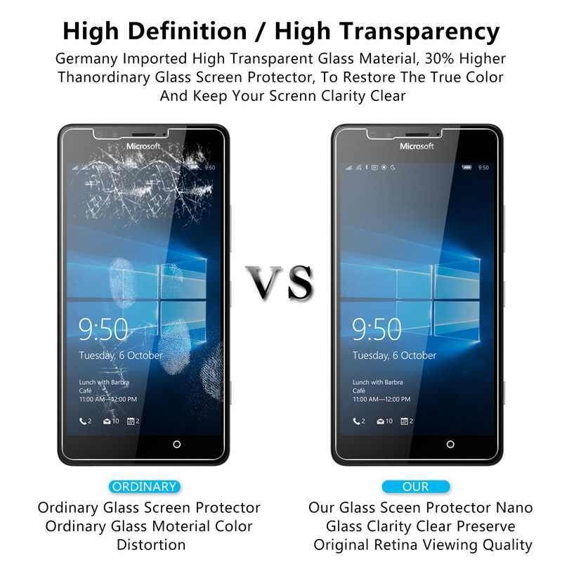 الزجاج المقسى لمايكروسوفت Lumia 535 550 650 630 635 530 واقي للشاشة ل نوكيا Lumia 640 950 XL 640XL 950XL الجبهة فيلم